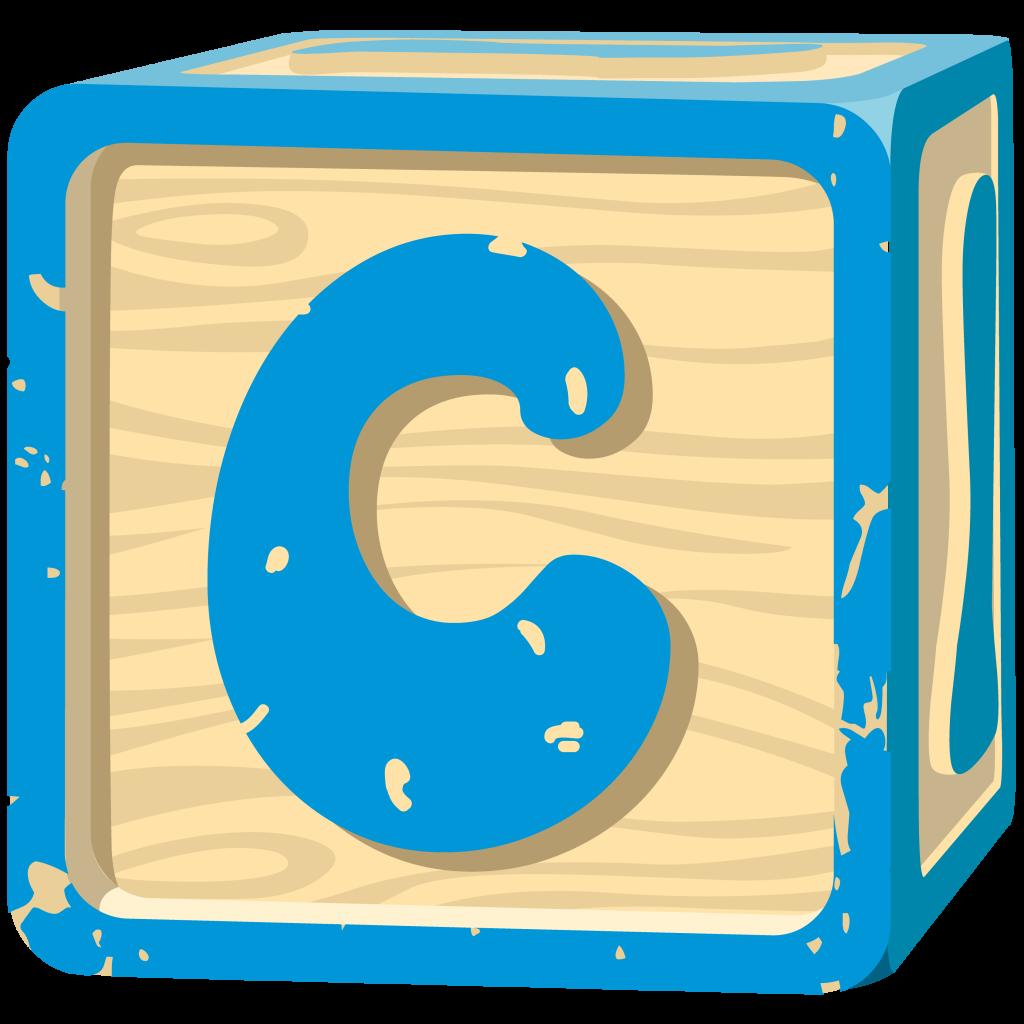 Letter Block. Letter C.