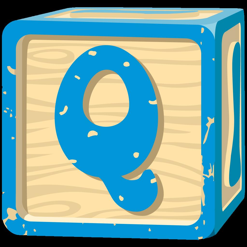 Letter Block. Letter Q.